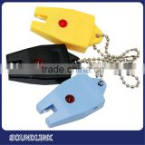 hearing aid accessories of Convenient key chain battery tester features a storage compartment for extra batteries