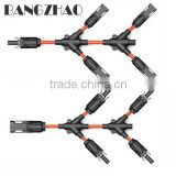 High-quality tinned copper Y type connectors of IP67 solar branch harness-Y3