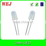 Through hole package type high brightness 3mm round white led