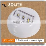 Mini led motion sensor light with 3 bright SMD powered by 3*AAA batteries