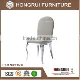 Restaurant stainless steel with brush oiled dining chair throne chair hotel dining room stainless steel dining chair
