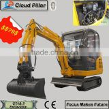1.8 ton brand china mini dig machine