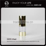 15ml aluminum cosmetic airless bottle travel set