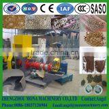 Factory dry type fish farming equipment floating fish feed bulking machine/dry floating extruded fish feed pellet making machine
