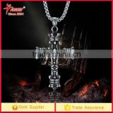 Titanium Stainless Steel cross stone Pendant Necklace Jewelry Mens Pendant Necklace sports necklace