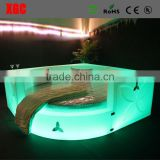 circle beds sale round shaped luxury hotel bed with LED lighting