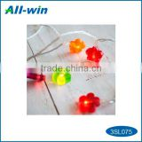 attractive cyrstalline flower shaped solar light with 10pcs white LED