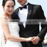 New disign Most popular Black One button Wedding dress suits for men SHT562