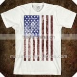 China manufacturer American apparel unisex fitted flag tee,american flag t shirt wholesale made in China