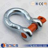 drop forged shackle, us type, carbon steel 45#, surface with electric galvanized or hot dip galvanized