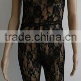 Sexy Lace Fishnet Lingerie Chemise sleeveless Backless Spaghetti Strap Women crotchless Bodystockings