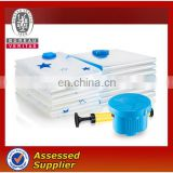 PE cheap colorful double sealed plastic vacuum bag zipper