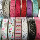 custom grosgrain ribbon for sweet heart hair tie bows