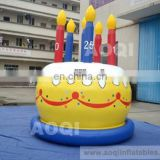 AOQI cheap price inflatable birthday cake model for party