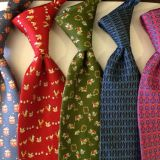 Mens Suit Accessories Customized Mens Silk Necktie Digital Printing Standard Length