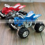 ATV plastic pull back toy, Terrain Vehicle custom pull back car, motor bike making pull back car