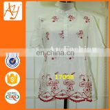 Fashion New Flower Chiffon Plus Size Blouse Clothing Ladies Top