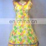new arrival block printed fabric cotton ladies printed kurti regular casual wear