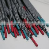Red and lighter green metal material shoe lace aglets for shoelaces and shoelace tips metal tips