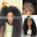 Unprocessed Remy Brazilian Lace Wig Natural Color Afro Curly Style 180% Density Full Lace Wig In Dubai With Natural Hairline
