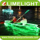 transparent kayak with LED light for night tour