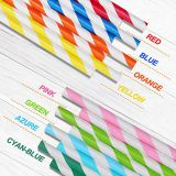 Paper Straws Biodegradable Paper Straws Eco-friendly FDA Approved Paper Drinking Straws for Party supplies, Birthday, Wedding, Shower, 200-Pack