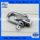 Wholesale Bow / Dee shackle type 4mm small stainless steel shackles adjustable shackle with 3 holes