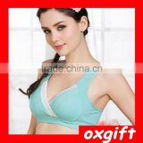 OXGIFT Pregnant women, nursing bra sports yoga sleep underwear, cotton vest crossover no rims nursing bra OX-DWZ274