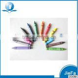 12 colors wax crayon bulk with promotion packing color box non toxic safety for kids
