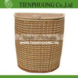 bamboo wicker laundry hamper with lid