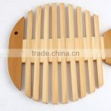Bamboo cup mat , apple style Coaster holder