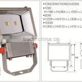 3 Years Warranty IP65 100W Waterproof bridgelux chip Outdoor LED Christmas Projector Flood Light