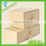 Professional Customized Printed Drawer cardboard Jewelry box with pull Ribbon
