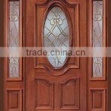 New Solid Wood Mahogany Entry Double Door Prehung Prefinished