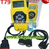 Multi car easy-to-use scan gauge OBD2/EOBD auto Scanner T79 in yellow -6 languages ,Data print out,live data graph