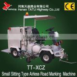 Small driving type cold plastic road line marking paint machine