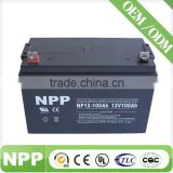 solar inverter battery valve regulated lead acid battery 12V100AH Deep cycle lead acid maintenance free battery