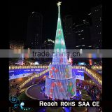 Artificial christmas tree outdoor trees /giant christmas tree with top star/ metal frame christmas tree