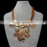 fashion brass jewelry in gold for young girl
