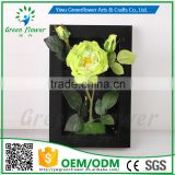 Greenflower 2016 Wholesale 3D Wall Frame Rose artificial flowers arts and crafts making wedding Home decorations