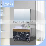 Manufacturer directly supply free Floor standing hotel cheap single bathroom vanity in China