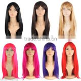 "Womens 18"" Full Long Fancy Dress Wigs Straight Cosplay Costume Ladies Wig Party W381"