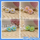 2016 Korean headdress hair accessories white daisies shaped hairpins plastic resin hair clips MHo-54