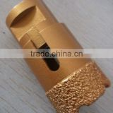 Vacuum brazed diamond core drill bit for granite, marble, ceramic tile and glass drilling