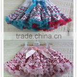 fourth of july Latest Skirt Design chiffon chevron zig zag design baby petit skirt tutu layers skirt