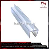 For 6 / 8 / 10 / 12 / 15 mm Glass Plastic Sliding Glass Door Seal At The Bottom