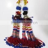 New Indian Handmade Banjara Beaded Key Chain Tribal Kutch Designer Tassel Art Multi-color Key Chain