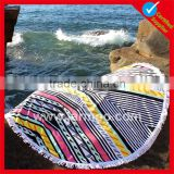 NO MOQ custom printing full color printing round towel beach                                                                                                         Supplier's Choice