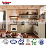 Simple design solid wood kitchen cabinet solid cupboard