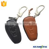 Car Genuine Leather Key Cover Case 3 button Smart For Mercedes-Benz GLK300 CLA200 ML350 S Class E260L C200 Auto Accessories                                                                         Quality Choice